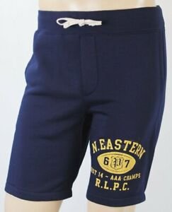 Polo Ralph Lauren Navy Blue Football Athletic Sweat Shorts NWT
