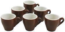 Set Servizio 6 Tazzine Tazze Caffè Marrone Ceramica 6x5cm moc