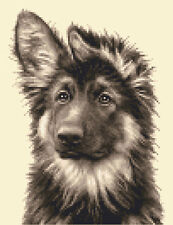 GERMAN SHEPHERD dog, puppy complete counted cross stitch kit + all materials