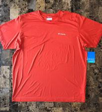 Columbia Mens Omni Wick Workout T Shirt Nwt Orange Size Xl