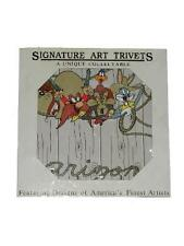 Warner Bros Looney Tunes ARIZONA Signature Art Trivet 1997 Bugs Daffy Taz Sam