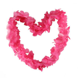 Lot of 10 Hawaiian Carnation Flower Two Ply Leis Luau Beach Party Carnivals