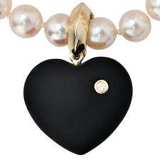 NEU 585er Diamanten Anhänger Herz 20 mm Onyx schwarz echt Gold Gelbgold 14 Karat