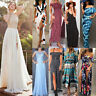 Women Summer Boho Long Maxidress Evening Cocktail Party Beach Dress Sundress Lot