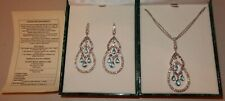 Suzanne Somers Sterling Silver Necklace & Matching Earrings