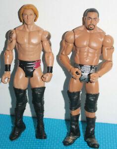 WWE USED David Otunga & Heath Slater Mattel Basic Action Figure Wrestling Nexus