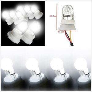 4 Pcs White 160W + 120W Car SUV HID Hide A Way Flashing Strobe Light Universal