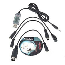 USB RC Simulator FMS Adapter Cable For Controller Futaba JR walkera Helicopter@M
