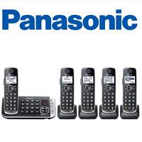 Panasonic KX-TGE675B DECT 6.0 Expandable Cordless Phone System with Digital...