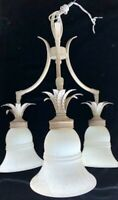 Rare French Style Art Deco Ceiling Fixture -1930's - Three Light Chandelier