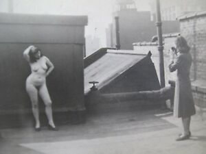 1930's Nude Model 5x7 on Top of New York Roof Photo Shoot by Mary Fife -snapshot
