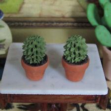 Dollhouse CACTI Miniature Resin Plant Pot Lot Southwest Western Garden Flowers