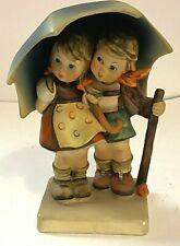 Goebel Figurine ~ Hummel Stormy Weather ~ Girl & Boy With Umbrella #71