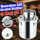 2-8Gal 2POT Alcohol Distiller Brewing Kit Moonshine Still Stainless Wine