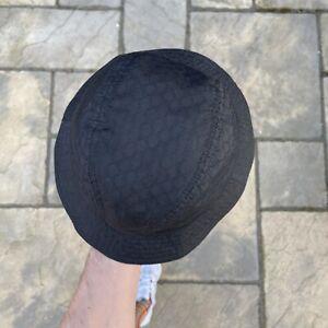 Gucci GG Monogram Bucket Hat In Black Unisex Size S