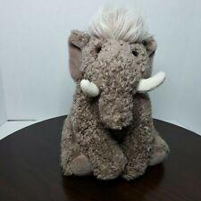 "Gund Woolly Mammoth Elephant Plush Stuffed Animal Toy Vintage 11"" 1993"