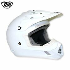 THH TX12 Resistente Blanco Brillante MX Moto-x Todoterreno Casco de Moto