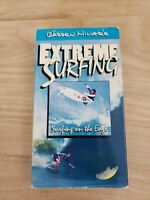 WARREN MILLER'S EXTREME SURFING: Surfing  On the Edge VHS 1992 plays great
