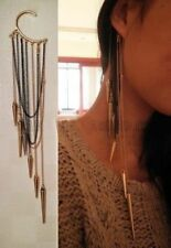 Lulu AZ Boho/Punk Draped Chain Dangling Spike Ear Cuff NEW FEC2