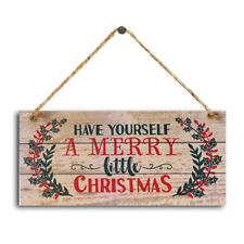 New Year Wooden Door Hanging Sign Christmas Tree Ornament Christmas Decorations