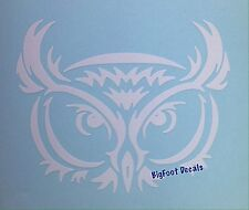 Owl Face Decal Wood Barn Zoo Animal Nature Car Window Vinyl Sticker