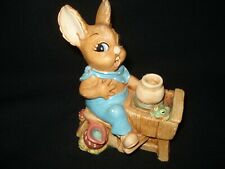 Pendelfin Stonecraft Rabbit Figurine, Crocker The Potter & Frog, 1960's England