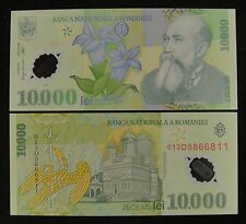 Romania Polymer Plastic Banknote 10.000 Lei 2000 (2001) UNC