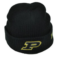 NCAA Purdue Boilermakers Black Cuffed Knit Beanie Basketball Toque Acrylic