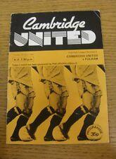 05/04/1983 Cambridge United v Fulham  (Creased, Marked, Score On Back)