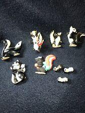 New ListingLot Of 9 Skunk Figurines Vintage Rennaker Avon