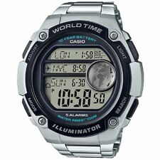 Casio Men's Watch, 100 Meter WR, Chronograph, 5 Alarms, World Time, AE3000WD-1AV