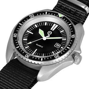 QM Royal Navy Military Divers Watch - German Commando dial