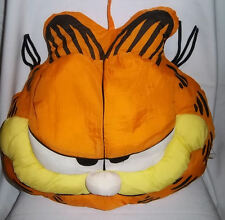 "GARFIELD Cat Face Head Large Plush PILLOW Play By Play Stuffed Vintage 18"" x 17"""
