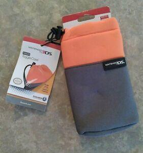 Nintendo 3DS Neon Orange/Gray Toggle Case NEW W/Tags