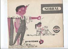 N°6794 / dépliant revétement SOBRAL pour toute la maison   1955 environ