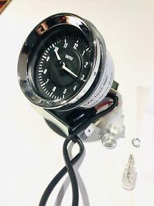 Smiths car clock  60 Mm Black /red  With Chrome Rim Illum Morgan Etc