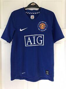 Boys Manchester United 40th Anniversary Shirt Size Medium