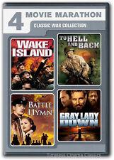 Wake Island, To Hell & Back, Gray Lady Down, Battle Hymn DVD New 2 Disc Set