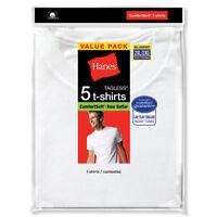 Hanes Men's Big 5-Pack Crew T-Shirt, White, XX-Large