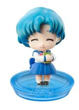 Sailor Moon - Petit Chara 3 Mini Figure Megahouse - Ami Mercury (B) closed eyes