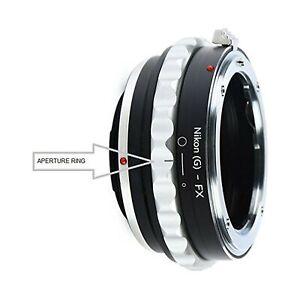 Adapter to Convert Nikon F-Mount D, G-Type Lens to Fujifilm X-Mount for Fuji ...