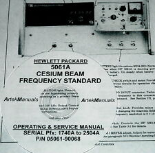 HP Ops & Service Manual for 5061A Cesium Beam Frequency Standard (Late Serials)