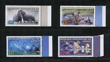 P092  D.R. Congo  2006   WWF  hippos     4v.  MNH