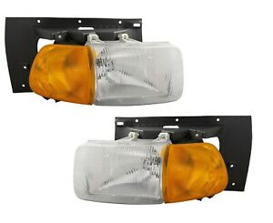 STERLING TRUCK AT9500 A9500 1998-2008 PAIR HEADLIGHTS HEAD LAMP FRONT LIGHTS SET