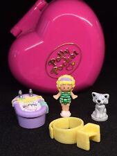 Polly Pocket Mini 💚 1991-Bathtime Fun ring and ring case 5.2.