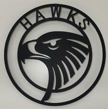 AFL Hawthorn Hawks Metal Wall Art Plaque Sign Aussie Australian Football 500mm