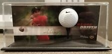 Upper Deck Tiger Woods Autographed Picture Card & Range-used Golf Ball w/display
