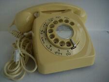GPO BT 746 ROTARY TELEPHONE IVORY COLOUR RETRO STYLE - FREEPOST
