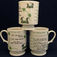 St. Patrick's Coffee Mug Set of 3 An Irish Toast Irish Coffee Recipe