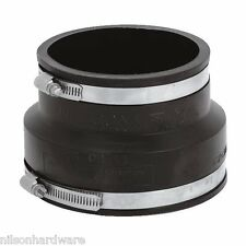 """30-Flexible Fernco Rubber 4"""" Clay x 4"""" PVC Plastic Sewer Pipe Conector Coupling"""